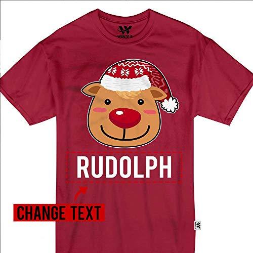 Rudolph Reindeer Christmas Santa Sleigh Reindeer Costume Kids & Adults Customized Handmade T-Shirt Hoodie/Long Sleeve/Tank Top/Sweatshirt