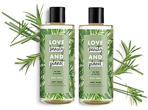 (Love Beauty and Planet - Tea Tree & Vetiver Body Wash 16 FL OZ - 2-PACK)