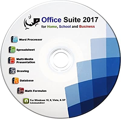 Office Suite 2017 Professional CD Compatible with Microsoft Office 2016 2013 2010 Word Excel PowerPoint plus Computer Guide Use at Home Business for Student Professionals, for Microsoft Windows 10 8 7