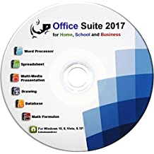 Office Suite CD - Compatible with Microsoft Office - includes 42 page computer guide by ewholesaledirect - Use at Home or Business for Students to Professionals - Runs on Windows 10, 8, 7, Vista and XP. [CD-ROM] Windows