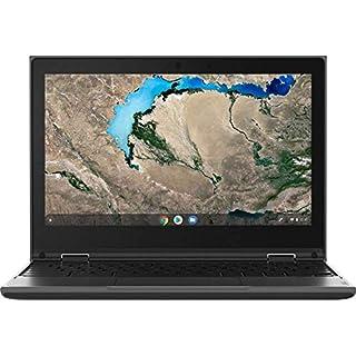 "2020 Lenovo 300e Chromebook Gen2 2-in-1 11.6"" Touchscreen Laptop Computer, AMD A4-9120C up to 2.4GHz, 4GB DDR4 RAM, 32GB eMMC, 802.11AC WiFi, 720p Webcam, Type-C, Black, Chrome OS, YZAKKA Mouse Pad"
