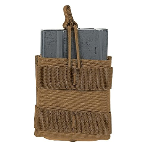 Open Top Single (VooDoo Tactical 20-0131007000 M14 Single Open Top Mag Pouch, Coyote)