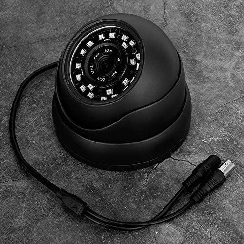 KIMISSバスAHDカメラCCTVカメラ、720P 360°IR防水屋外ドームカメラAHD NTSCシステムデイナイトビジョン24LED車用バスキャビン(白)