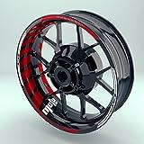 FELGENRANDAUFKLEBER passend f/ür Honda CB 1000 R Moto GP Style Felgenaufkleber Motiv 1