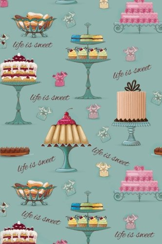 Sketch Journal: Life Is Sweet (Cakes and Pastries) 6x9 - Pages are LINED ON THE BOTTOM THIRD with blank space on top (Life Is Sweet Sketch Journal Series)