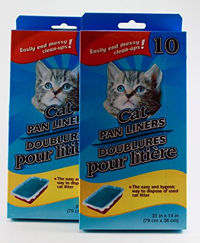 LARGE CAT LITTER PAN LINERS Lote de 20 Fundas Grandes para cazuelas de Gato, 2 Cajas, Varios Paquetes