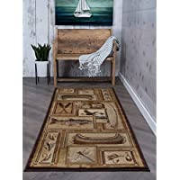Alise Rugs Alise Natural Ivory Lodge Runner - 27 x 73