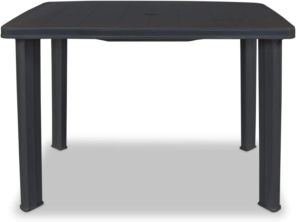 Hommoo Garden Table 39.8x26.8x28.3 Plastic Anthracite