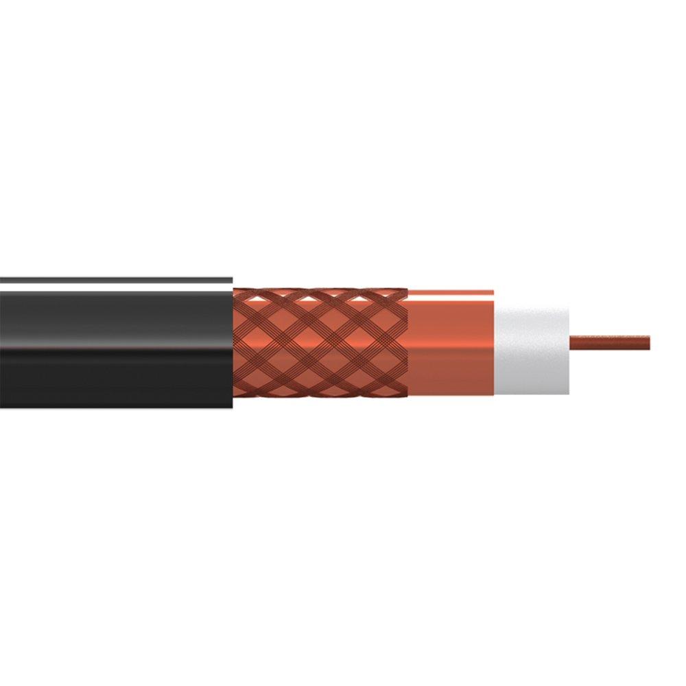 Tecatel Cable coaxial de Exterior de 10 mm CU en Color Negro de ...