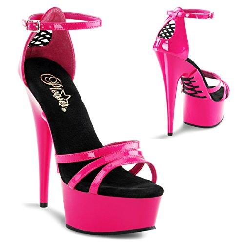 Pleaser Vrouwen Delight-662 Enkel-strap Sandaal Hot Pink / Hot Pink