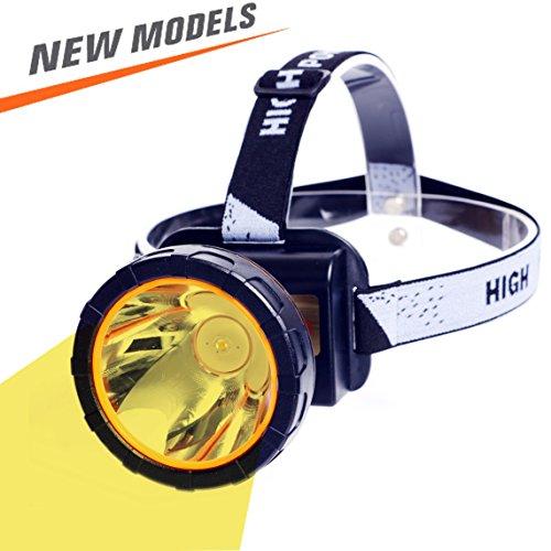 ghts -Lighting Distance LED Flashlight Hunting Headlamp (Yellow light) (Led Yellow Headlamp)