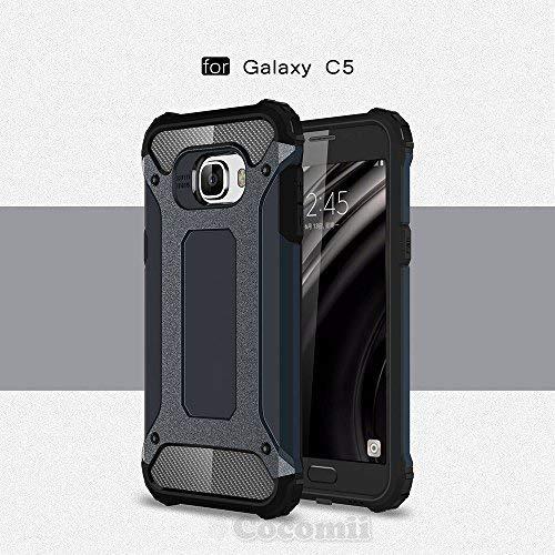 (Cocomii Commando Armor Galaxy C5 Case New [Heavy Duty] Premium Tactical Grip Dustproof Shockproof Bumper [Military Defender] Full Body Dual Layer Rugged Cover for Samsung Galaxy C5 (C.Metal Slate))