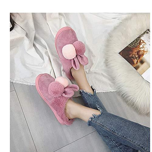 Pink1 Scarpe Calde Le Coniglio Per pink1 Invernali Da Donna 36 Sogno Kkcf Homing Signore Colorate 6dT4q6