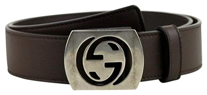 492fd3d059915d Amazon.com  Gucci Men s Cocoa Brown Leather Interlocking G Leather ...