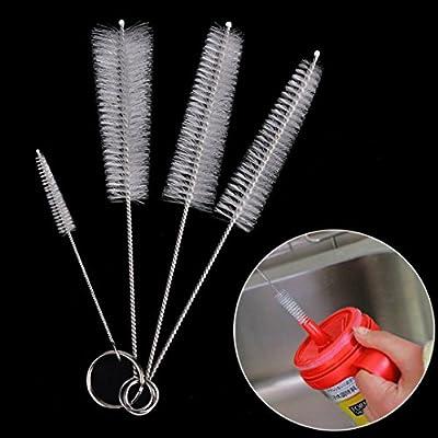 Ec Spray Gun Tube Brush,1Set Tea Pot Spout Bottle Mini Brush Kettle Nozzle Cleaning Kitchen Cleaner Tool