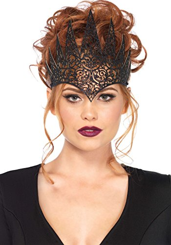 Leg Avenue Die Cut Royal Crown,Black,One Size