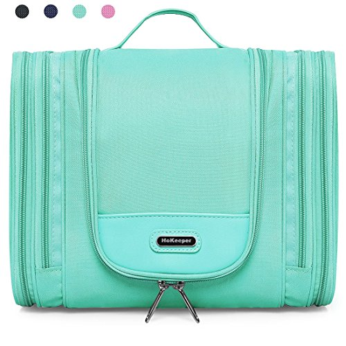 Heavy Duty Waterproof Hanging Toiletry Bag - Travel Cosmetic Makeup Bag for Women & Shaving Kit Organizer Bag for Men - X Large Size: 11.5 x 4.5 x 9.5 Inch