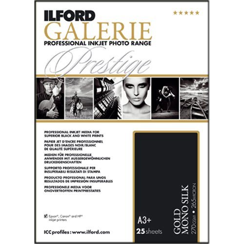 ILFORD 2002450 GALERIE Prestige Gold Mono Silk - 13 x 19 Inches, 25 Sheets by Ilford