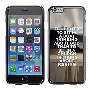 "For Apple (5.5 inches!!!) iPhone 6+ Plus / 6S+ Plus , Pesca marinero Dios cristiano Hobby Diversión"" - Diseño Patrón Teléfono Caso Cubierta Case Bumper Duro Protección Case Cover Funda"