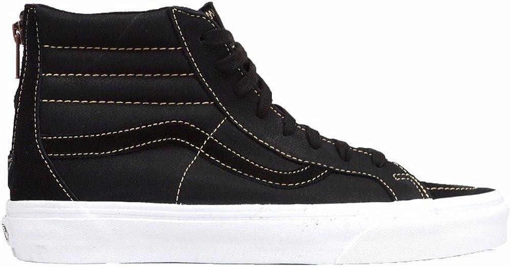 Vans Premium Leather Sk8-Hi Reissue Zip Sneakers