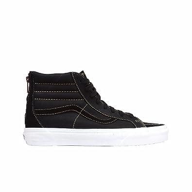 9c6bd2b540f Vans Sk8-Hi Reissue Zip Premium Leather Black (5.5 Women   4 Men M