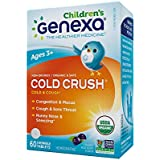 Genexa Homeopathic Cold Crush for Children: The Only Certified Organic Kids Cold & Cough Medicine. Physician Formulated, Natural & Non-GMO Verified (60 Chewable Tablets)