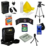 Ideal Accessory Kit for Canon PowerShot SD1400 IS - Includes: 16 GB memory card, High Capacity NB-4L Rechargeable Replacement Battery, AC/DC (home/car) Rapid Battery chatger, 50'' Light Weight Aluminum Photo/Video Tripod, Protective Digital Camera Carrying