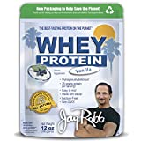 Jay Robb - Grass-Fed Whey Protein Isolate Powder, Outrageously Delicious, Vanilla, 11 Servings (12 oz)