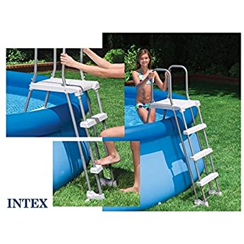 Intex - Echelle de piscine Sécurité INTEX 132 cm Grise  Amazon.fr ... 187d9f91fed