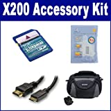 Toshiba CAMILEO X200 Camcorder Accessory Kit includes: KSD2GB Memory Card, HDMI3FM AV & HDMI Cable, ZELCKSG Care & Cleaning, SDC-26 Case
