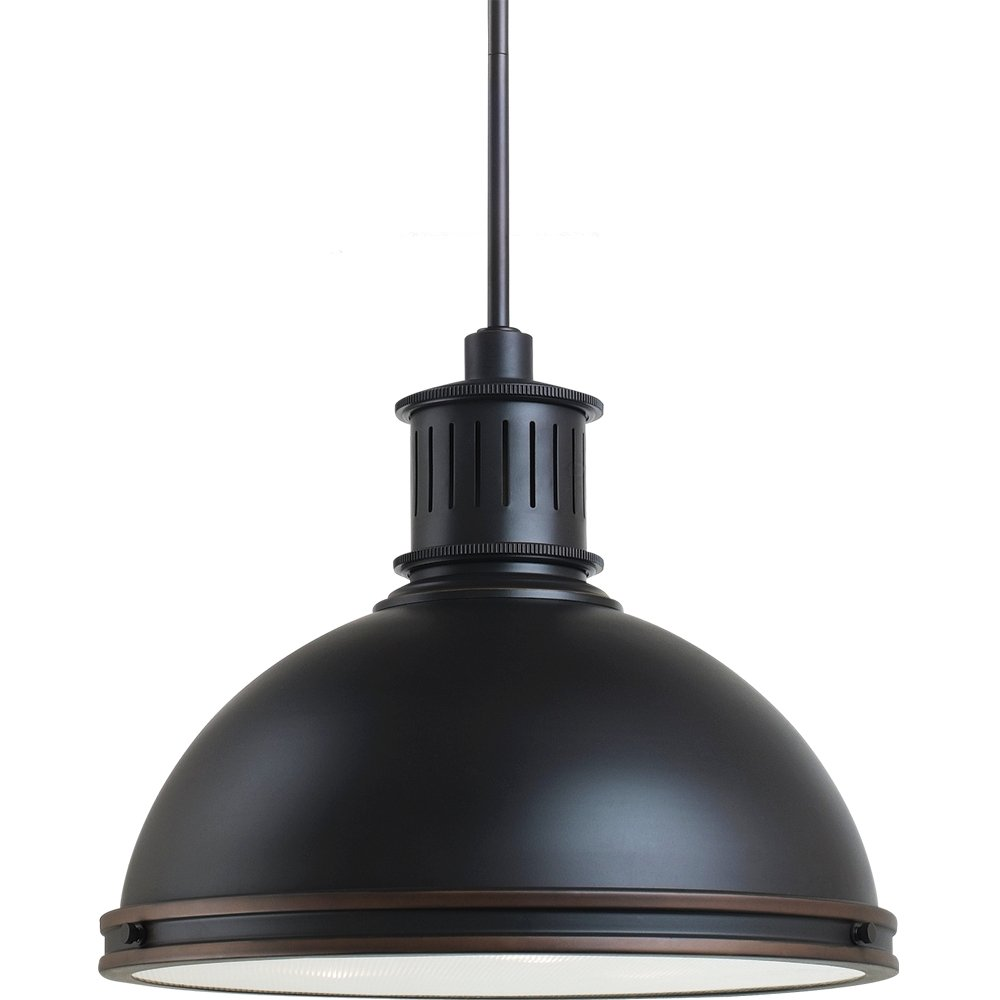 Sea Gull Lighting 65087BLE-715 Pendant with Glass Diffuser Shades, Autumn Bronze Finish