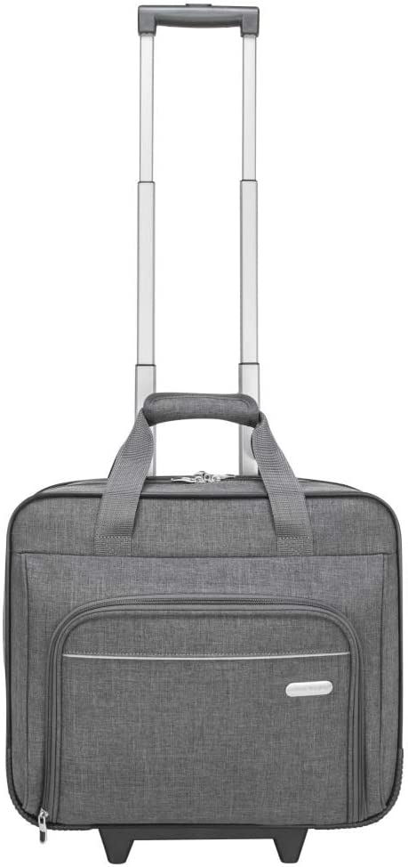 Targus Metro Rolling Laptop Case Bag for Business Commuter with Durable Water Resistant, Expandable Compartments, Trolley Strap, Padded Protection fits up to 16-Inch Notebook Screen, Grey (TRR00304GL)