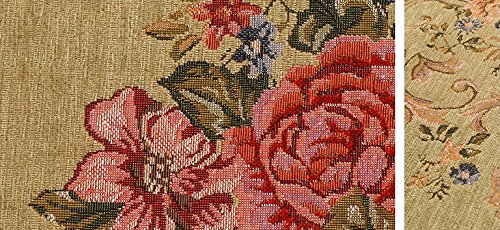 MeMoreCool Pale Green Floral Western Rugs Rustic Area Rugs Vintage Shabby Traditional Rugs Floral Rugs Carpet Floral Print Rugs and Carpets for Home Living Room Country Cottage Rugs
