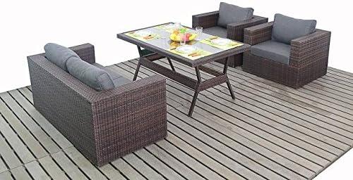 Moderno pequeño jardín ratán sofá juego de mesa, sofá de 2 plazas ...