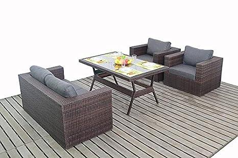Moderno pequeño jardín ratán sofá juego de mesa, sofá de 2 ...