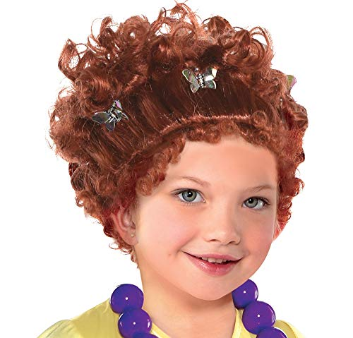 Party City Fancy Nancy Wig Halloween Costume Accessory for Children, One Size Red -