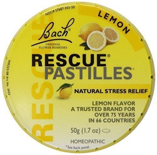 Bach Rescue Remedy Pastilles - Lemon - 50 Grm - Case Of 12