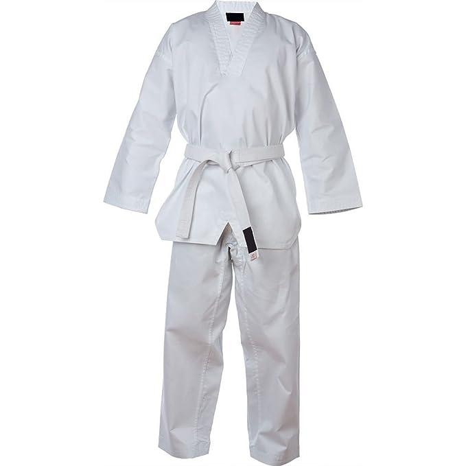 Malino Student Karate Suit Uniform For Adult 7oz PolyCotton Belt Free Color White Size 4//170