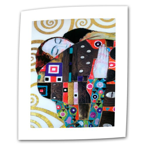 Art Wall Beethoven Frieze 32 by 48-Inch Flat/Rolled Canvas by Gustav Klimt with 2-Inch Accent Border - Beethoven Frieze Klimt
