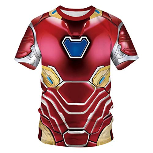 Tsyllyp Womens Mens Superhero T-Shirts Iron Man Costume Pullover Tops Tee - Tee T-shirt Ironman