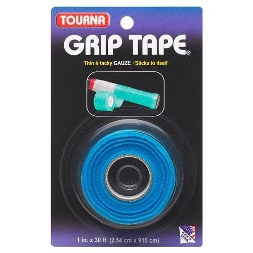 Unequalled Tourna Tennis Racquet Over Grip Gauze Tape-blue-1in By 30 Ft-badminton