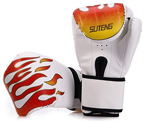1 Pair Sparring Muay Thai Grappling Fire Pattern Kick Boxing Gloves