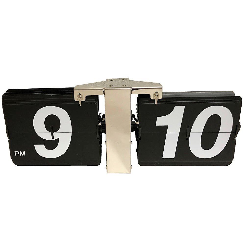 komanakomi フリップクロック デザイン時計 置時計 掛け時計 対応 インテリア (ブラック) B078MJ4L12 ブラック ブラック