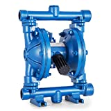 VEVOR Double Diaphragm 12 GPM Air Operated Double Diaphragm Pump 1/2Inch Cast Iron Air-Operated Diaphragm Pump 115 PSI Double Diaphragm Air Pump