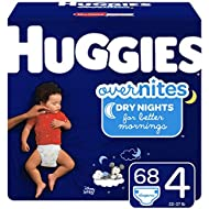 Huggies Overnites Nighttime Diapers, Size 4, 68 Ct (Packaging May Vary)