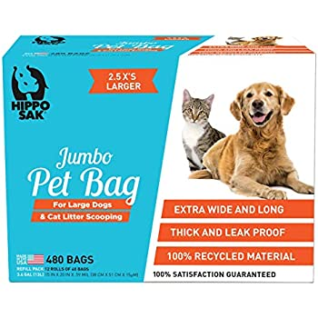 Amazon Com Green N Pack Extra Large Dog Waste Bags 100