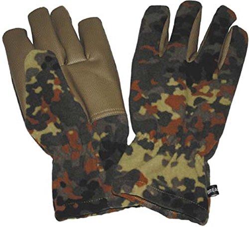 MFH gants alpin en polaire, camouflage, coupe-vent