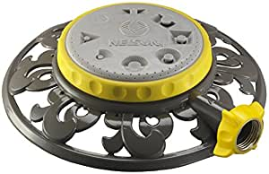 Nelson 50956 Eight-Pattern Spray Head Stationary Sprinkler with Decorative Metal Base