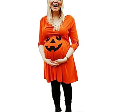0681bf214411c Women's Long Sleeve Maternity Pregnant Women Pajamas Halloween ...