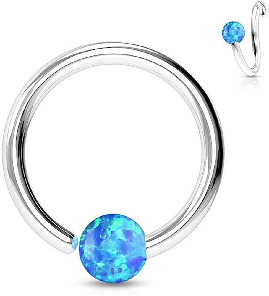 Covet Jewelry 316L Surgical Steel Annealed Captive Bead Ring